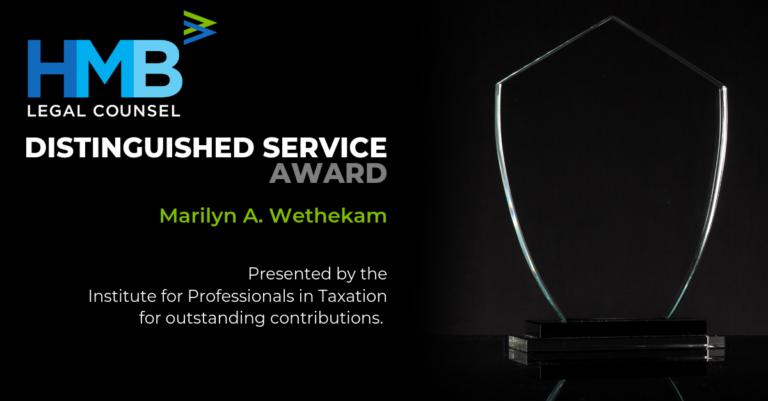 IPT 2019 Distinguished Service Award Marilyn Wethekam