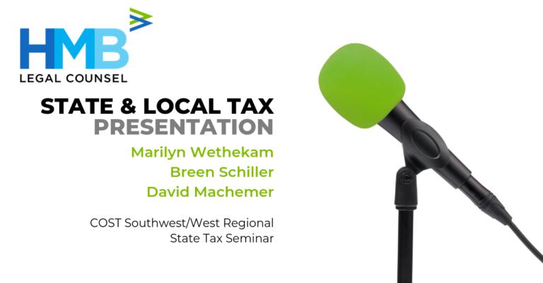COST 2019 Southwest - West Regional Presentation Announcement