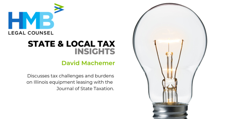 State and Local Tax David Machemer Journal of State Taxation