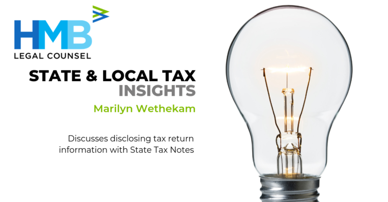 State and Local Tax Attorney Marilyn Wethekam State Tax Notes