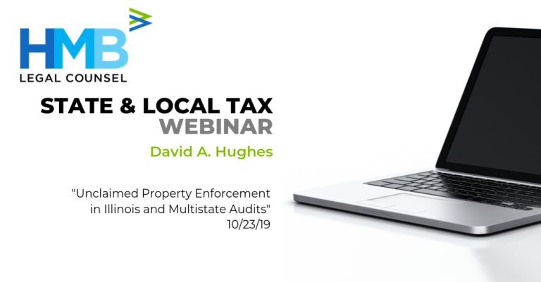 State and Local Tax webinar white background with computer